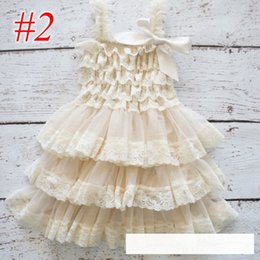 Wholesale 8years Girl - INS Baby girls petti dress ivory princess party dress girls lace & chiffon dresses ruffled baby girls petti lace dress 0-8years free ship