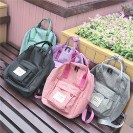 Wholesale Boys Trendy School Bag - Wholesale- 2016 Women Canvas Backpacks Student School back packs For teenage Girl Boy Casual Travel Bag trendy backpack japan