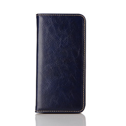 Wholesale Cellphone Wallet Blue - Business Pattern Wallet Case for iPhone 7 6s Plus SE Samsung S7 S6 Note5 Leather Cellphone Cover with Card Holder Stand Magnetic Closing