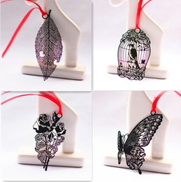 Wholesale Metal Bookmark Butterfly - Wholesale- Special offer,DIY Scrapbooking Black Butterfly Mini Metal Bookmarks Vintage Wedding Kawaii Book Markers Wedding Decoration