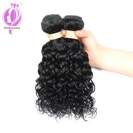 Wholesale Tangle Shed Free Human Hair - Brazilian Water Wave virgin hair 3 Bundles Human Hair Natural Color brazilian water wave no shedding no tangle free shipping