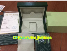 Wholesale Antique Card Box - High quality gift box green view wooden box instruction card green wooden watch box free shipping