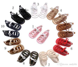 Wholesale 18 High Heels - Baby Girls sandals Summer toddler kids flat heels lace-up sandals girls rome sandals baby high gladiator sandal child PU leather shoes