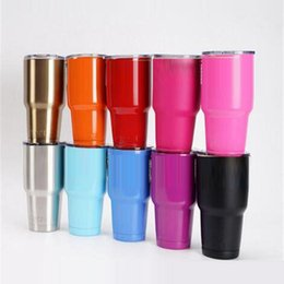 Wholesale Dhl Shipping Items - 15 colors 30 oz 20 oz RAMBLER Silver Stainless Steel Stainless Steel Insulation Cars Beer cup hot item DHL free shipping