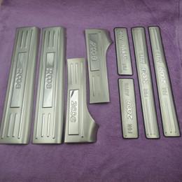 soleiras de porta peugeot Desconto Acessórios do carro ultra-fino Aço Inoxidável Porta Sill Scuff Plate para 2010 2011 2012 2013 2014 Peugeot 2008 Frete grátis