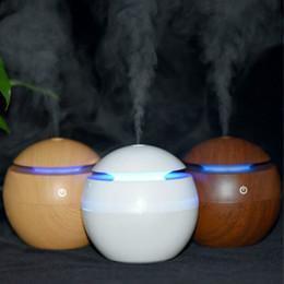 Wholesale Aroma Mist Maker - USB Ultrasonic Humidifier LED Aroma Diffuser Difusor De Aroma Essential Oil Diffuser 130ML Aromatherapy Mist Maker