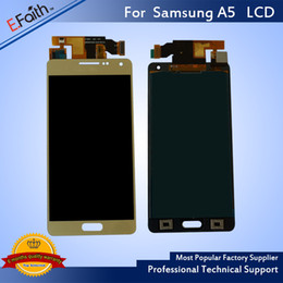 Wholesale Galaxy S4 Lcd Black - Hot Sell LCD For Samsung Galaxy A5 LCD Black&White&Black Screen Panel For Repalcement & Free DHL Shipping