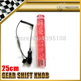 Wholesale Dildo 25cm - knobs crystal Car-styling 25cm Red Bubble Dildo Shift Gear Knob With Light Fit All Kinds Of Vehicle