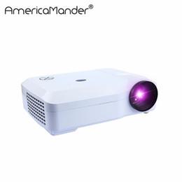 Hd реклама онлайн-Wholesale-250inch Brightest 3000Lumen Full HD DLP Бизнес-реклама Данные для образования показывают 3D-проектор Beamer Projektor Proyector