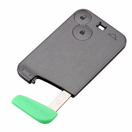 Wholesale Key Cover Renault - Guaranteed 100% 2 Buttons Smart Card For Renault Laguna Espace Car Key Blank Shell Case Cover With Blade Free Shipping