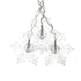 Wholesale Garden Christmas Ornaments - 3.5M 96LED Snowflake LED Curtain String Lights Lamp New Year Garden Christmas Wedding Party Ceiling Decoration 220V
