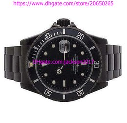 Wholesale Dlc Pvd - High Quality Christmas gift Luxury mens watches wristwatch Mens 11610 40MM Stainless Steel Black DLC PVD Coated Watch Automatic Mens Watch