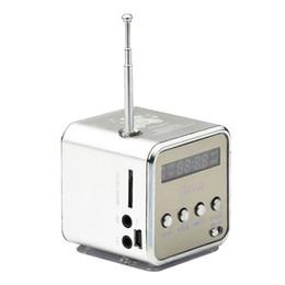 Wholesale Mini Altavoz Hifi Bluetooth - TD-V26 Mini LED Music Stereo Speaker MP3 Music Player FM Radio Antenna Receiver USB Altavoz For Phones Computer PC Altavoces