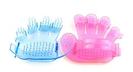 Wholesale Finger Rake - Pet supplies Pet transparent fingers bath brush your dog a bath brush the dog dog bath brush General massage cleaning cats and dogs