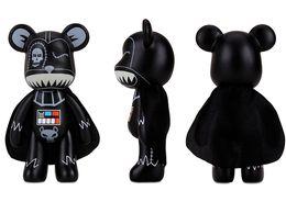 Wholesale Momo Red - New Violence Bear doll toy Momo BEARBRICK Gloomy Bear POPOBE Star War Darth Vader Vinyl Toys 5 inch for cartoon toys
