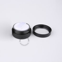 Wholesale Plastic Sifter Jars - Wholesale 100pcs lot 5g Empty Plastic Powder Jar With Sifter + Soft Puff, 5ml Refillable Black Cosmetic Bottle Packaging