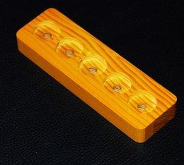 E cig stand madeira on-line-Madeira e cig display stand prateleira suporte de madeira cremalheira para ego bateria atomizador RDA mods mecânicos mod bateria vaporizador e display líquido