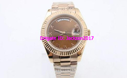 regarder la rose dorée Promotion Rose golden mens new arrivel Automatic Mechanical Wrist Watch 41mm cadeau daydate 218238