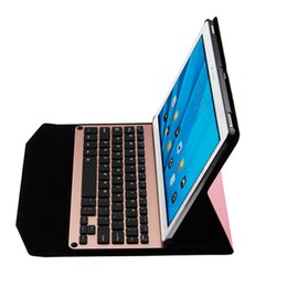 Wholesale Huawei Tablets Inch Cases - hot sale tablet case ultra thin youth version 10.1 inch sleeve leather wireless Bluetooth keyboard case for HUAWEI mediapad read M2
