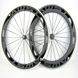 Wholesale 38mm Carbon Clincher Rims - AWST carbon with alloy brake surface 38mm 50mm 60mm 80mm road bike wheels bicycle 700c clincher with black road bike Rims
