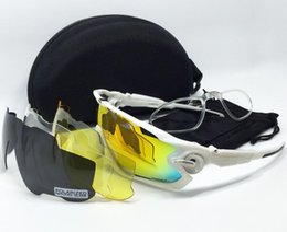 Mtb zubehör online-Klassische Mode JBR 4 Objektive Polarisierte Sonnenbrille TR90 Männer Frauen Sonnenbrille MTB Kieferbrecher Brillen Zubehör Brille fahrrad sonnenbrille