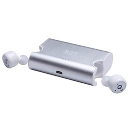 Wholesale Iphone Portable Charger Mini - New Portable True Wireless Earbuds TWS X2T Mini Headphone Bluetooth Earphone Charger Box for iPhone and Andriods