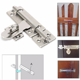 Wholesale Padlock Clasp - 3.7 Inch Stainless Steel Hardware Door Lock Bolt Latch Padlock Clasp Catch Plate Set