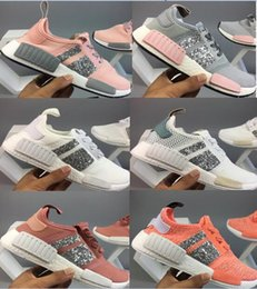 Wholesale Ladies Genuine Leather Flat Shoes - Summer newest best quality ladies glistening NMD Runner R1 Primeknit PK Low Men's & Women's shoes 2018 Classic Fashion Sport Shoes 36-40