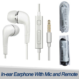 Wholesale Headphones For Cheap - Earphones In-Ear Headsets For Samsung Earbuds s6 s7 s8 edge Headphones Stereo 3.5mm Cheap Headset With Microphone Remote For Mp3 Cell Phone