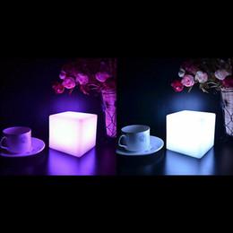 Wholesale Glowing Nightlight - Mising 7 Colors Romantic Changing Mood Cubes LED Night Light Lamp Glow Gadget Gizmo Light Home Decoration Nightlight