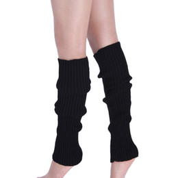 Wholesale Wholesale Cable Knit Boot Socks - Wholesale- Attractive Fashion Women Pure Colour Boot Cuffs Warmer Knit Leg Stockings Soft and fashionable cable knit leg warmers Aug16