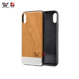 Wholesale house blank - Metal Wood Phone Case for iPhone X 8+ 7+ 8 7 10 Blank Clear Bamboo Gold Stitch Full TPU Protective Cover Shockproof Housing