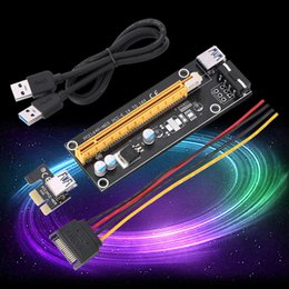 Wholesale Pci Express Cable Extension - PCI-E Express Riser Card BTC Bitcoin Mining Dedicater Graphics VER 006C 1x to 16x Powered Riser Adapter USB 3.0 Extension Cable-GPU Adapter
