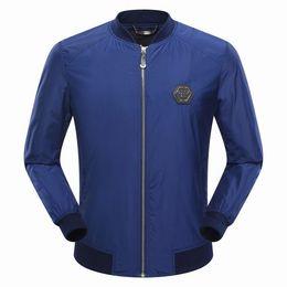 Wholesale Mens Collar Cardigan - 2017 Autumn Hot Sell Men's Jacket Length Sleeve Stand-up Collar Hoodies Sweatshirts Skull Print Tiger Mens Zipper Outwear 9031