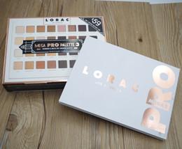 Lorac mega pro 3 paleta da sombra 32 cores paleta shimmer matte marcas de paleta da sombra de olho maquiagem de