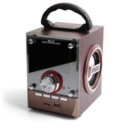 Wholesale wholesale dj speakers - Speaker LED Wood Luxury Mobile Multimedia Wireless Bluetooth Portable Speakers USB TF AUX FM Outdoor DJ Super Bass