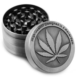 Wholesale Cheap Piece Grinders - 50mm 40mm Metal Herb Grinder 4 Piece Cheap Leaf Tobacco Crusher with Free Scraper