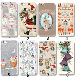 Wholesale Cristmas Gifts - Cristmas Gift Phone case Soft TPU Phone Cover Case For iPhone 7 6 6S 5 5S SE 7Plus Cute Phone case DHL Free