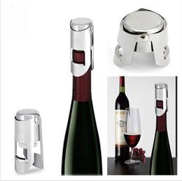 Wholesale Spark Steel - Wine Bottle Stopper Cap Plug Stainless Steel Sparking Champagne Bottle Stopper Cap Rubber Sealer Wine Bar KKA1371