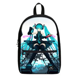 Wholesale Pink Miku - Wholesale- Hot Sale Hatsune Miku Canvas Backpack Women Printed Travel Laptop Daypack Anime School Bags For Teenager Girls Casual Campus Bag