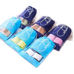 Wholesale Thermal Bedding Sets - 1 pack 10 pieces Travel Storage Shoe Thicker Waterproof bag shoes Dust and mildew Shoes storage bag Two colors