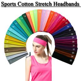 Canada Bandeaux extensibles de coton bande de cheveux de yoga Softball Sports bandeau élastique Sports Offre