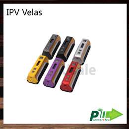 Wholesale led visual - Pioneer4you IPV Velas 120W TC Box Mod Seven Color LED Strip Powered by the YiHi SX410 Chip Visual Operating System 100% Original