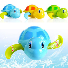 Wholesale Swimming Bath - 3pcs lot Swimming Tortoise Baby Toys Plastic Animals Wind Up Toys Pool Bath Fun Toys For Kids Turtle Chain Clockwork Classic toy