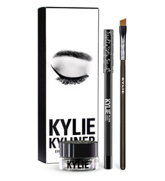 Wholesale Gel Color Dryer - Kylie Jenner Cosmetics brithday edition kyliner eyeliner Kit and gel Waterproof eyeliner with Brush makeup Cosmetic liner 3 Colors for cho