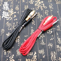 Wholesale Machine Gun Power Clip Cord - Free Shipping Silicone RCA Tattoo Power Clip Cords 2 Colors Supply For Ink Machine Guns Needle Kits Pro TPS5130