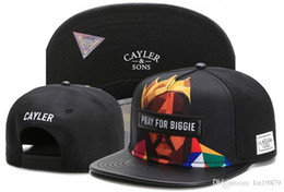 Biggie snapback caps online-Marke Cayler Sons BETEN FÜR BIGGIE Leder Hysteresenhüte gorras Knochen für Männer Frauen Erwachsene Sport Hip Hop Straße Outdoor-Sonne Baseball-Kappen