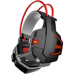 Wholesale Headphones Games - ITSYH Professional Game Headphone Deep Bass Stereo Surrounded Over-Ear Gaming Headband Earphone With LED and Vibration PS4 PS3 TW-762