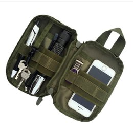 Wholesale Nylon Key Pouch - Wholesale 1000D Nylon Tactical Bag Outdoor Molle Military Waist Pack Mobile Phone Case Key Mini Tools Pouch Sport Bag Free Shipping