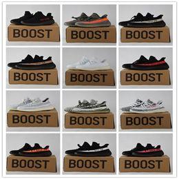 Wholesale Pvc Solar - Mens 350 Boost V2 SPLY Black White Kanye West Beluga Solar Red Women Running Shoes Sports Wholesale 350 v2 With Box